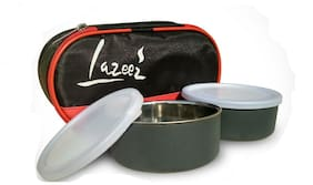 Meena Mart Stainless Steel Lazzaz Lunch box micro wave safe container
