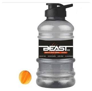 Meenamart Sports Gallon Bottle Plastic Black Water Bottle ( 1500 ml , Set of 1 )