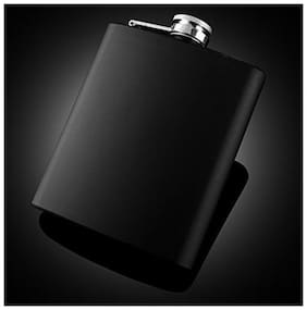 Meenamart silver stainles steel Pocket Carry Slim & Compact hip-flask