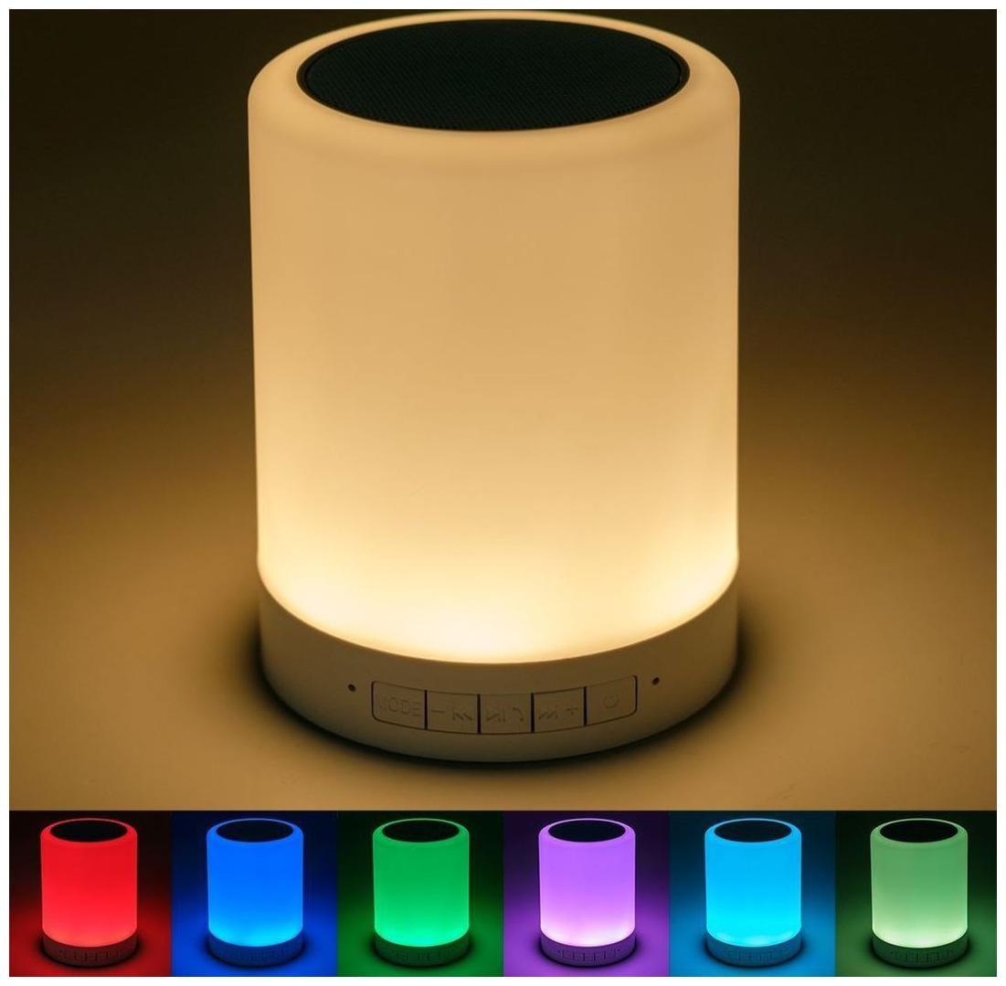 Meenamart smart Table Lamp Night Light Bluetooth Speakers