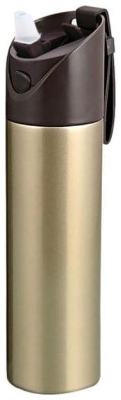 Meenamart Stainless Steel Golden Water Bottle ( 600 ml , Set of 1 )