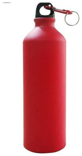 Meenamart Stainless Steel Red Water Bottle ( 750 ml , Set of 1 )
