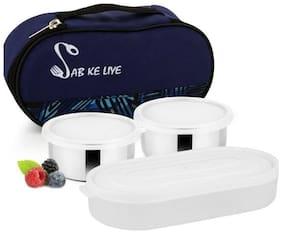 Meenamart Blue Lunch box ( Set of 1 , 680 ml )