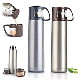 Meenamart Vacuumized Travel Flask Stainless Steel Grey Water Bottle ( 750 ml , Set of 1 )
