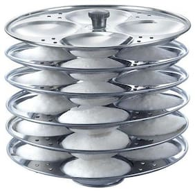 Meet Stainless Steel Cookware Idli Stand 6 Plates (Suitable for Inner Lid Pressure Cooker)