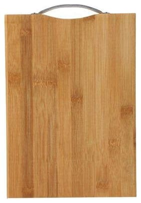 Meet Wooden Bamboo Chopping Board, Large Kitchen Cutting Board for Meat, Vegetables, Cheese and Fruits with Handle (36 X 26)