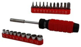 Mega MP-SBS22R 22PCS SOCKET & BIT Ratchet Screwdriver Set (Pack of 1)