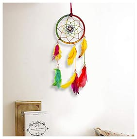 Meher Collection Multicolor Small Dream Catcher Traditional Indian Wall Art for Bedrooms, Home Wall, Hanging Design