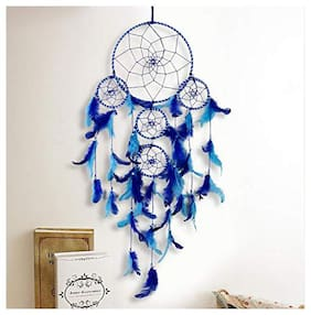 Meher Collection Large Dream Catcher Traditional Indian wall Art for Bedrooms, Home Wall, Hanging Design, Height 75 cm