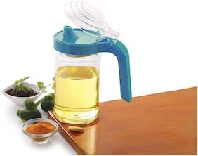 Melodi Leak Proof Oil Pot Dispenser/ Oil Storage Container, 600 ml, Blue