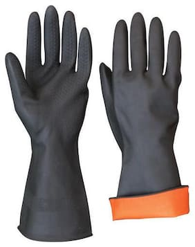 Menage  Heavy Duty Rubber Hand Gloves Pack of