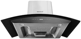 Mercy 90 cm 1200 m3/h Auto clean Stainless steel Chimney - 180 w , Silver ,