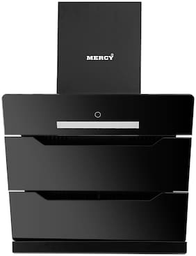 Mercy 60 cm 1300 m3/h Auto clean Stainless steel Chimney - 220 w , Black ,