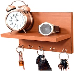 Metvan Wooden Key Holder (25 cm x 11 cm x 0.3 cm, Brown)