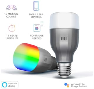 Mi LED Wi-Fi 10W Smart Bulb (White and Color, E27 Base), Compatible with Alexa and Google Assistant