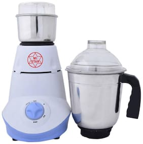 MI STAR MG18H179 Mixer Grinder ( White & Blue , 2 Jars )