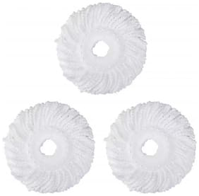 Microfiber 360 Degree Head Refill for Magic Mop (3Pc) White
