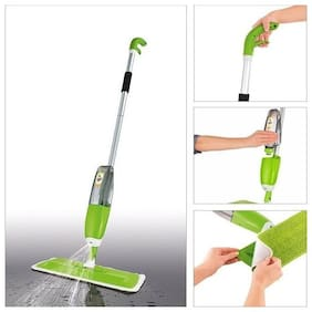 Microfiber Aluminium Floor Cleaning Healthy Spray Mop With Removable Washable Cleaning Pad And Integrated Water Spray Mechanism Wet & Dry Mop Multifunctional Stainless(Multicolour)