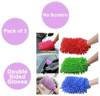 Microfiber Cleaning Gloves Set Of 3 pcs