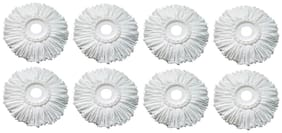 Microfiber Mop Head Refill White (Pack of 8)
