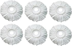 Microfiber Mop Head Refill White (Pack of 6)