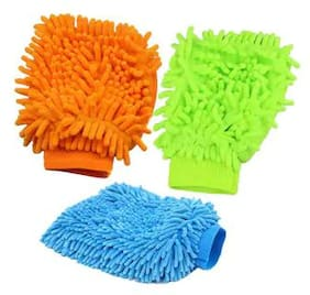 Microfibre Dusting And Cleaning Gloves set of 3