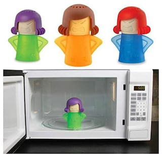 A 1 TOP Microwave Angry Mama Steam Cleaner High Quality Plastic Easily Cleans The Crud in Minutes Steam Cleans