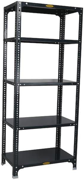 Mil-Nil Prime CRC Sheet 5 Shelf Multipurpose Slotted Angle Rack;60 x 24 x 15 Inch;24 Gauge (Grey)