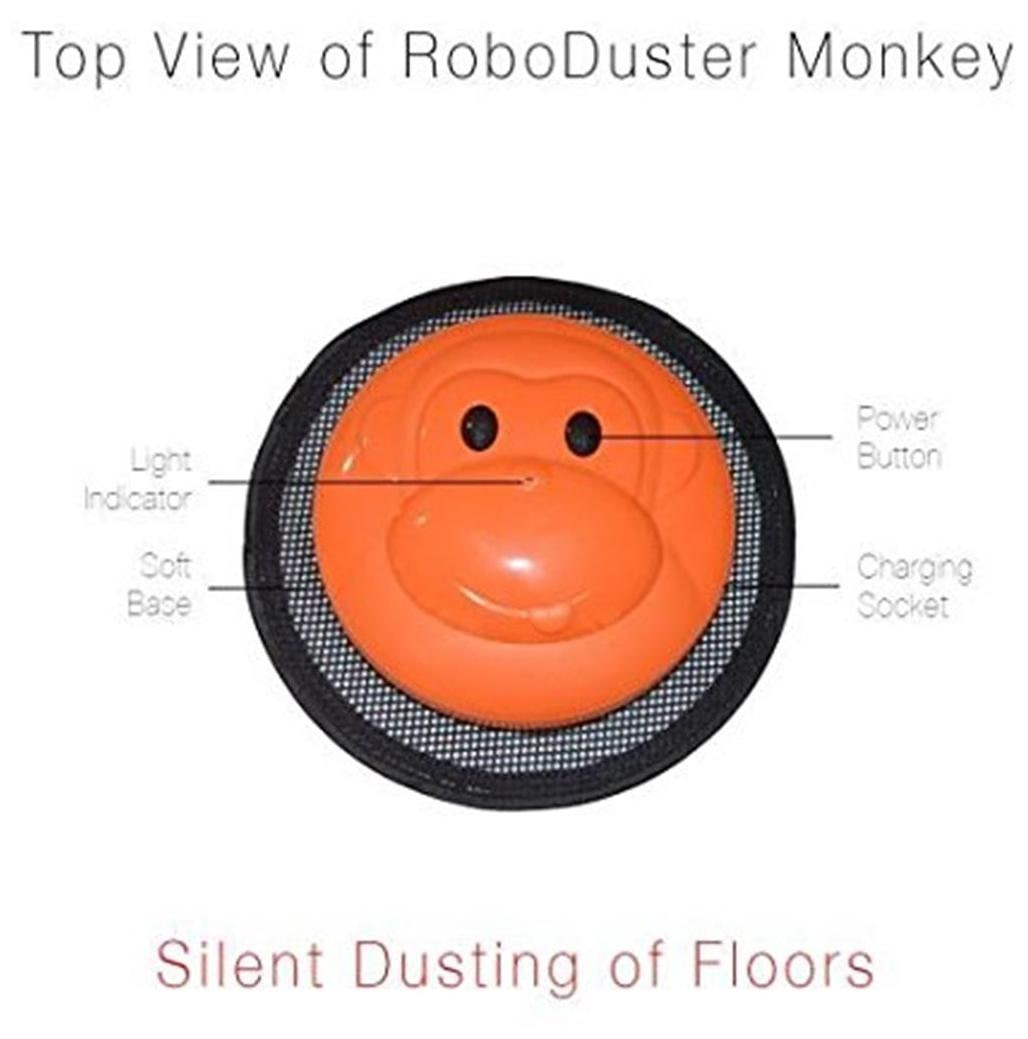 Milagrow RoboDuster Monkey Robotic Floor Cleaner (Black & Orange)