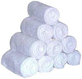 Milap Cotton White Towel Set Of 10