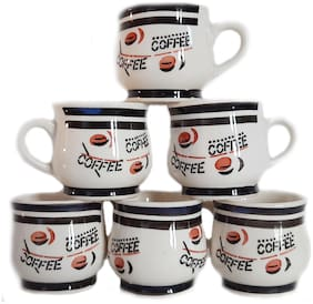 Millions Joy Ceramic Coffee Printed Cups- Set of 6