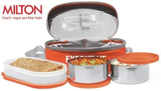 Milton Executive Lunch Box with 3 Containers   Orange