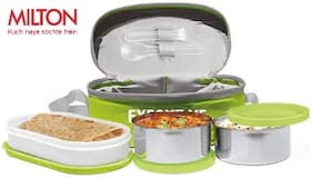 Milton Executive Lunch Box with 3 Containers - Green