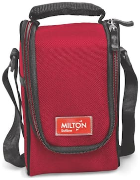 Milton Full Meal 3 Containers Plastic Lunch Box-Red