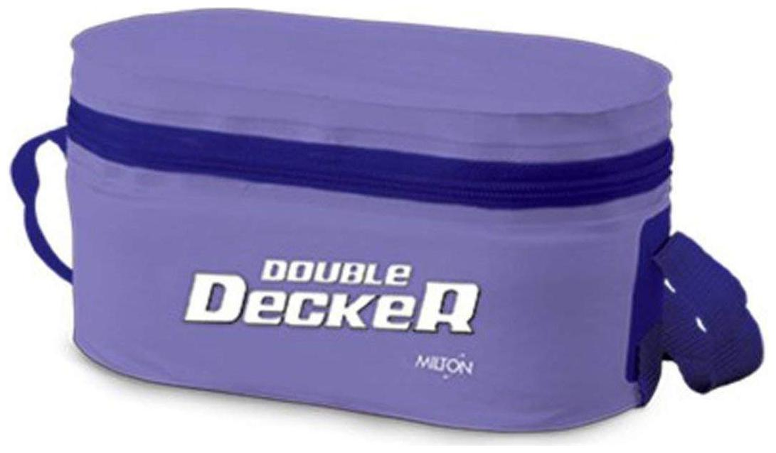 Milton Double Decker 3 Container Plastic Lunch Box   Purple by Hamilton Housewares