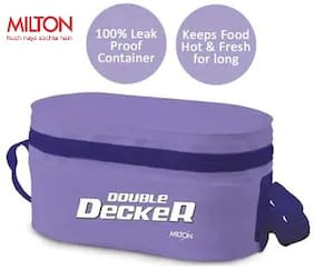 Milton Double Decker 3 Container Plastic Lunch Box - Purple
