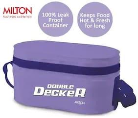 Milton Double Decker 3 Container Plastic Lunch Box - Purple