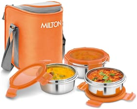 Milton Cube 3 Container Lunch Box, 300ml - Orange