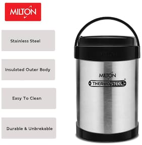 Milton Royal Tiffin 4 Containers Stainless Steel Tiffin Box-Silver