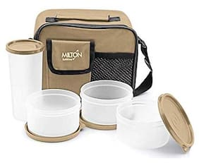 Milton Combi 3 Container Lunch Box with Tumbler - Cream