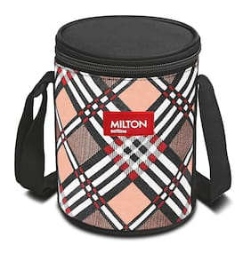 Milton Smart Meal 4 Containers Stainless Steel Lunch Box-Orange