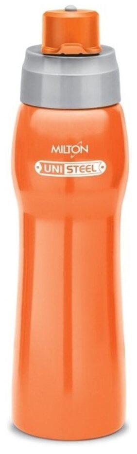 Milton Active Unisteel Water Bottle, Orange, 920 ml