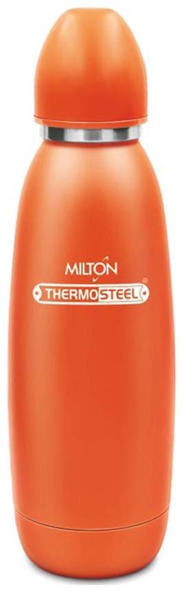 Milton 750 ml Stainless Steel Orange Water Bottles - Set of 1