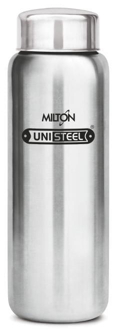 Milton AQUA Stainless Steel Fridge Water Bottle 750ml, Silver