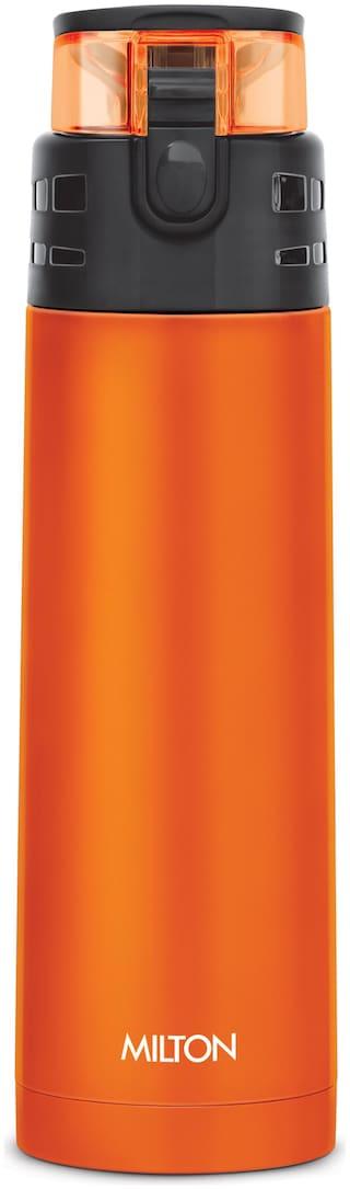 Milton Atlantis 400 Stainless Steel Hot & Cold Tea Water Bottle 350 ml Orange