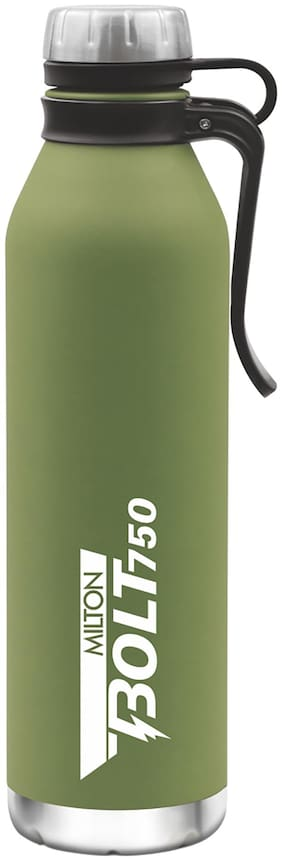 Milton Thermosteel Flask Set of 1 ( Green , Stainless Steel ,  750 ml )