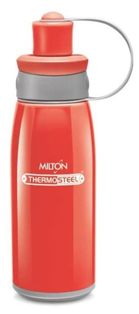 Milton 400 ml Stainless steel Red Water bottles - 1 pc