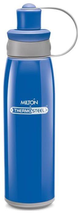 Milton 500 ml Stainless Steel Blue Water Bottles - Set of 1