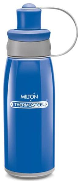 Milton 400 ml Stainless Steel Blue Water Bottles - Set of 1