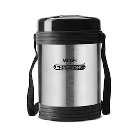 Milton Thermosteel Legend Insulated Tiffin Box with 4 Containers, Steelplain